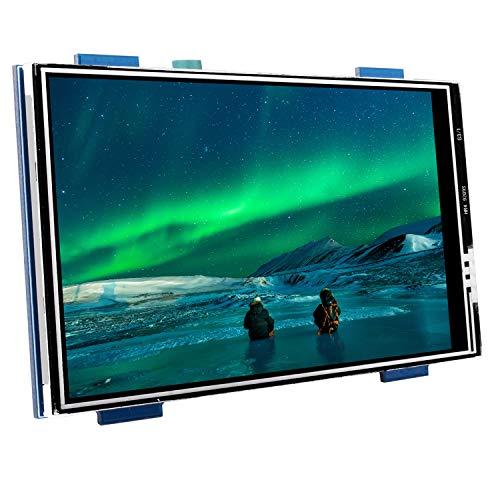 Kuman Schermo Raspberry Pi, Display LCD HDMI da 3.5 Pollici, Risoluzione 480 * 320 Tft Touch Screen Monitor per Video e Film e Gioco Ingresso Audio HDMI SC6A