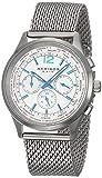 Akribos Multifunction Stainless Steel Chronograph Watch - 3 Sub-Dials Complications Quartz - Mesh Bracelet Men's Watch - AK716