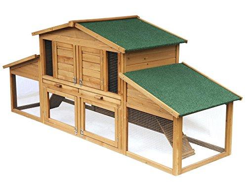 EUGAD 0033HT Gabbia per Conigli Criceto Conigliera da Esterno Giardino Casa per Piccoli Animali in...