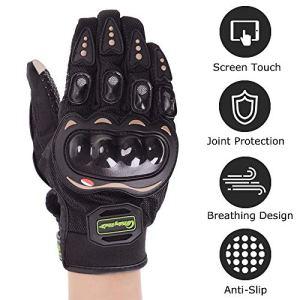 evermotor Motorrad Handschuhe Schwarz Motorradhandschuhe Touchscreen Sport Handschuhe für Motorrad Radfahren Camping Draussen 1