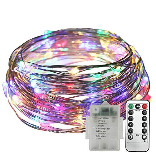 Stringa Luci LED, Neoperlhk Catena Luci Decorative 10m 8 Giochi di 100 Luci LED Filo di Rame...