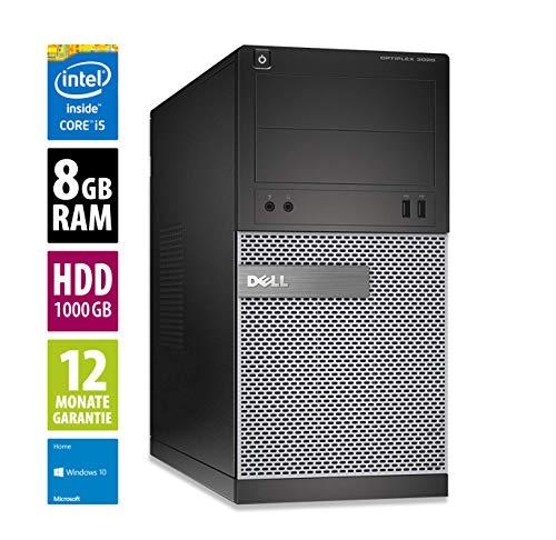 Dell Optiplex 3020 MT | Büro Computer/Internet PC | Intel Core i5-4590 @ 3,3 GHz | 8GB DDR3 RAM | 1000GB HDD | DVD-Brenner | Windows 10 Home (Generalüberholt)