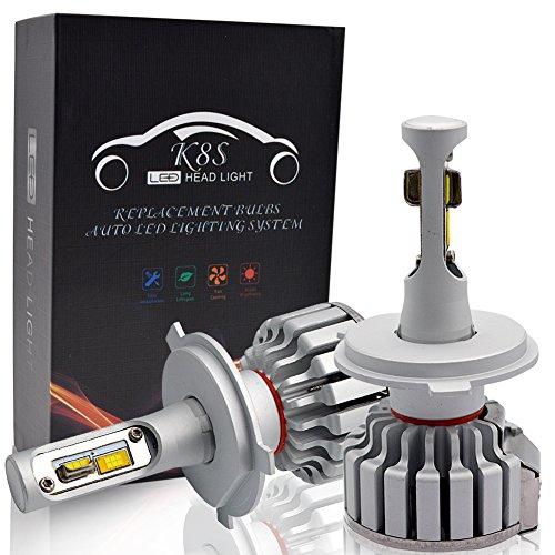H4 LED Kit Lampadine Faro Auto - Safego Hi/Lo 50W 5000LM Kit Conversione LED Automatico Chip LED...