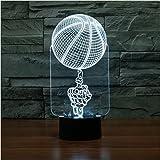 3D dito basket lampada da tavolo acrilico piccola notte luce 7 cambiare colore Touch Switch desk luci (tensione: 5V) [energia classe a + + +]
