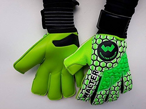 walter guanti da portiere professionali modello lizard (verde, 9,5)