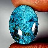 22.55CTS 100% naturale classico Tibet turchese cabochon ovale gemma trattata