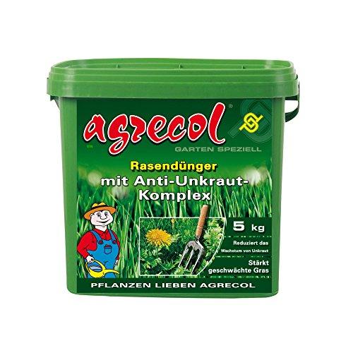 Premium Césped abono con contra las malas hierbas en el césped.-Herbicida hochergiebig 5kg para 250m² superficie de hierba