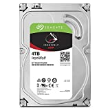 Seagate IronWolf 4 TB 3.5 inch Internal Hard Drive for 1-8 Bay NAS Systems (5900 RPM, 64 MB Cache up to 6.0Gb/s, 180 TB/Year Workload Rate)