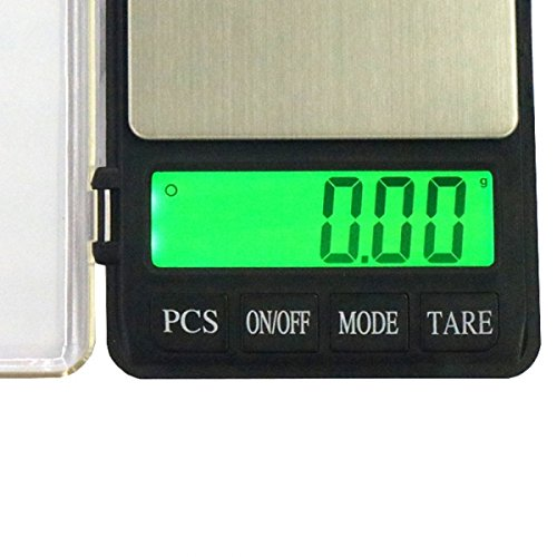 zhart Pocket Digital Jewelry Scale Weight Balance Electronic (500g x 0.01g), Silver