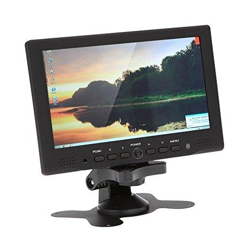 "SODIAL(R) 7 \""TFT Farbmonitor LED HD PC / AV HDMI Monitor VGA Eingang Empfaenger mit Kopfhoererbuchse PAL / NTSC Video Displayer fuer ueberwachung Auto Luftaufnahme"