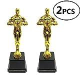 Kodoria Trofei premio Oscar Trofei premio Oscar per feste, cerimonie, apprezzamenti, premi per insegnanti e studenti, 2-Pack