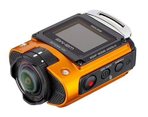 Ricoh WG-M2 RICOH WG-M2 action Camera per Riprese Video 4K, Impermeabile Fino a 20m Senza Scafandro, Antiurto, Wi-Fi, Arancio