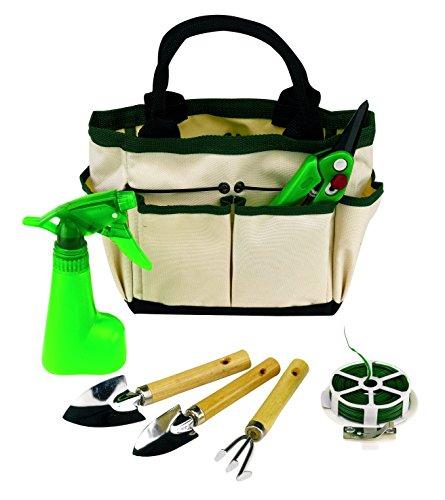 Jardín Juego de herramientas de jardinería 6teilig con lona bolso Rose Tijeras de alambre y pulverizador y palas Rastrillo 2