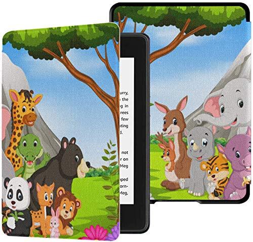 Custodia Kindle Paperwhite di decima generazione Cartoon Wild Animal In The Jungle Custodia Kindle...