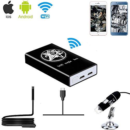 Jiusion Box wireless Wi-Fi Compatibile con iPhone Tablet con telefono Android iPad, convertitore da...