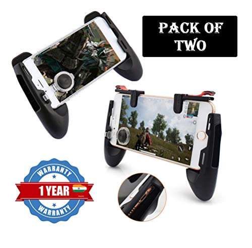 Eazories Game Controlling Smart Joystick Mobile Phone Gaming Controller Handle for PubG Call of Duty and Other Games for All Smartphones (Pack of Two)