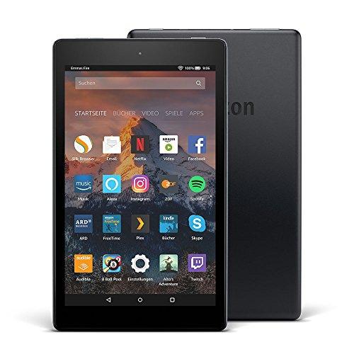 Fire HD 8-Tablet mit Alexa, 20,3 cm (8 Zoll) HD Display, 32 GB (Schwarz), mit Spezialangeboten (vorherige Generation – 7.)