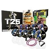 Beachbody Shaun T's Focus T25 zu Hause Fitness DVD Workout Programm: 11 Workouts auf 9 DVDs mit Ernährungsplan und Widerstandsband