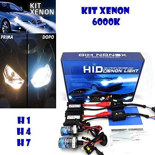 mentalshopwb Kit LUCI Xenon CENTRALINE Ballast HID FARI Xeno H4 6000K 35W Auto Moto
