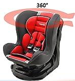 Mycarsit Siège Auto 360°, Groupe 0+/1 (de 0 à 18 kg), Carmin