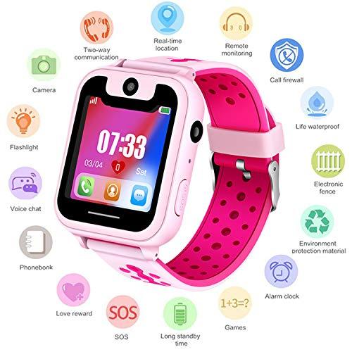 Kids GPS Tracker Smartwatch per ragazzi ragazze - Smart orologio da polso con posizione GPS SOS...