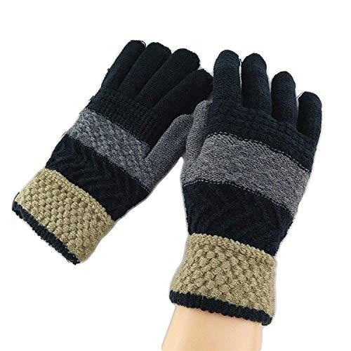 Malvina Men's and Women's Winter Wear Warm Knitted Woollen Hand Gloves (Multicolour, Free Size)
