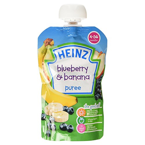 Heinz Blueberry and Banana Puree, 4-36 Months, 100 g