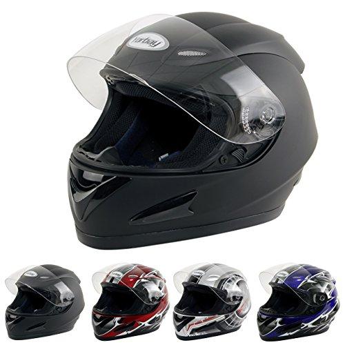 Yorbay Motorradhelm Integralhelm Sturzhelm Helm mit Aufbewahrungstasche mit verschienden Typen & in unterschiedlichen Größen 1