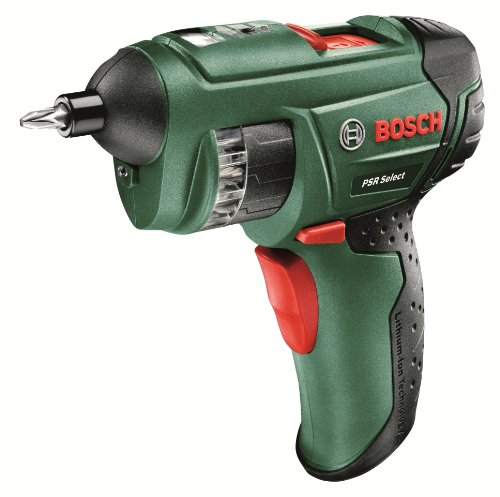 The Bosch PSR Select makes looking for the right bit a thing of the past as it arrives with a built-in cylinder with 12 different bits that work with most screws, the perfect screwdriver for the home user and DIY enthusiast.