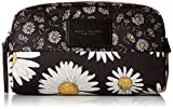Marc Jacobs Large B.Y.O.T. Mixed Daisy Flower Cosmetic Case, Black/Multi