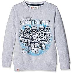 LEGO Wear Jungen Lego Boy Star Wars M-72369-Sweatshirt, Grau (Grey Melange 924), 146