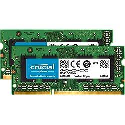 Crucial CT2K4G3S1339M - Kit de Memoria para Mac de 8 GB (4 GB x 2, DDR3L, 1333 MT/s, PC3-10600, SODIMM, 240-Pin)