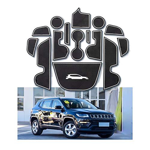YEE PIN Scanalatura della Porta Tappetino Antiscivolo Compatibile con Jeep Compass 2017-2019...