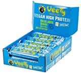 Veety Vegan High Protein Bar - Haselnuss | ohne Zusatzstoffe | 30% Eiweissgehalt | Veganer Proteinriegel mit Superfood (Goji, Quinoa, Chia) | Made in Bavaria | 15 x 48 g