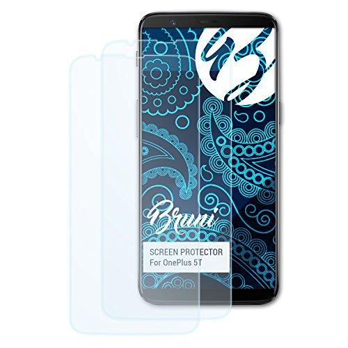 Bruni Película Protectora para OnePlus 5T Protector Película, Claro Lámina Protectora (2X)