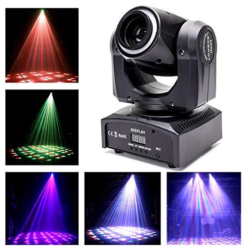 UKing Moving Head LED, 60W Kaleidoskop Lichteffekt DMX512 DJ Disco Lichter mit Beleuchtung Ring Bühnenlicht für Partylicht Stage Bar Weihnachten Halloween