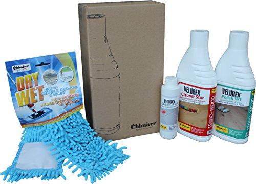 Kit pulizia parquet verniciati. Set per la manutenzione/detergenza di pavimenti in legno verniciati:...