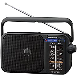Panasonic K 2400deg RF Radio portatile con manico, alimentazione elettrica o a batterie nero