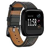 Cinturino Fitbit Versa TopACE Cinturino Sostituzione in Pelle per Fitbit Versa