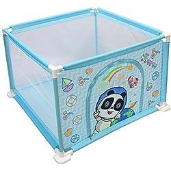 deAO Parque de Juegos Infantil Corralito para Bebé Incluye Bolas de Colores (Cuadrado Azul)