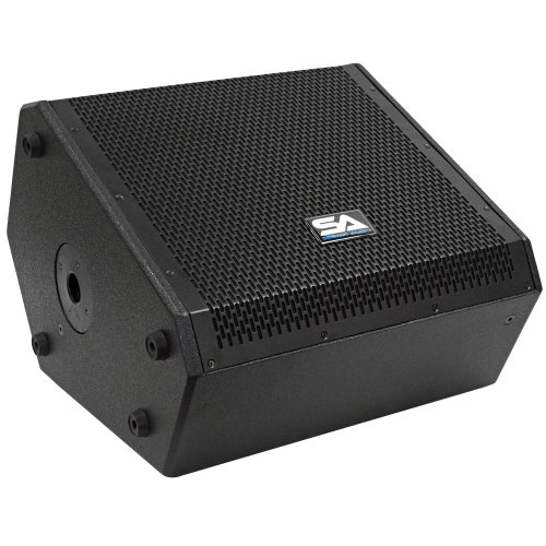Seismic Audio - SAX-12M - Compact 12 Inch 2-Way Coaxial Floor/Stage Monitor with Titanium Horn - 250 Watts RMS - PA/DJ Stage, Studio, Live Sound 12 Inch Monitor