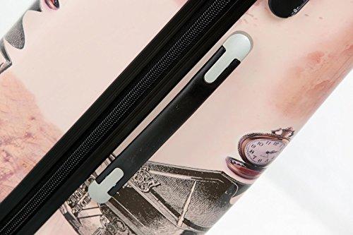 Polycarbonat Hartschale Koffer 2060 Trolley Reisekoffer Reisekofferset Beutycase 3er oder 4er Set in 12 Motiven (Tower) - 5