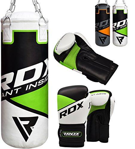 RDX Bambini Sacco da Boxe Pieno Arti Marziali MMA Sacchi Pugilato Muay Thai Kick Boxing con Guantoni...