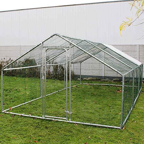 Wiltec Freilaufgehege Außengehege Voliere Hühnerstall Hasenstall Kleintiergehege 2x3x2m Sonnendach