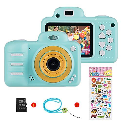 Vannico (16GB microSD) 1080P HD per Bambini Fotocamera Digitale, 800MP 2.4 Pollici Outdoor Travel Portatile Fotocamera per Bambini, 3-14 Anni Ragazzo e Ragazza Regalo di Compleanno (Blu)