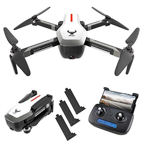 Goolsky SG906 GPS Senza spazzole 4K Drone con Fotocamera 5G WiFi FPV Pieghevole Ottico Flusso di Posizionamento Altitude Hold RC Quadcopter con 3 Batteria