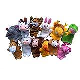 Títeres de Dedos, K-youth 12pcs Animal Marioneta De Dedo Felpa Bebé Niño Educación Temprana Juguetes Regalo (A)