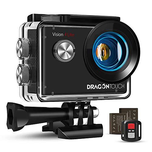 Dragon Touch WiFi Action Cam 20MP Subacquea Ultra HD Action Camera 4K, Schermo da 2 Pollici 170°...