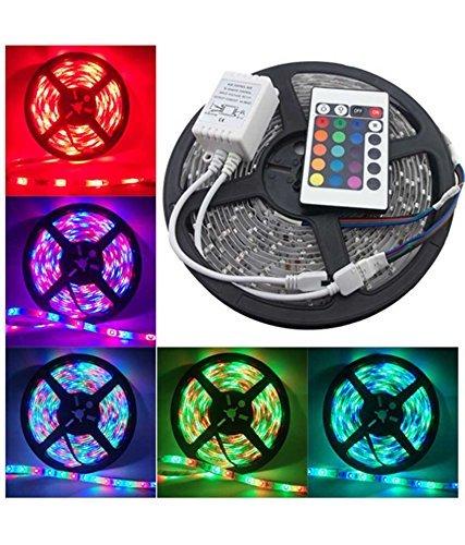 HD HOMES DECOR Waterproof RGB Remote Control Colour Changing LED Strip Light (5 m)