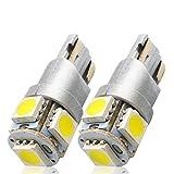 LncBoc T10 LED Auto Lampadina W5W LED luci dell'automobile Bulb 5SMD 5050LED 6000K Blanco 194 168 Per la Luce Interna Dell'auto Targa Lampade Replacment Confezione da 2